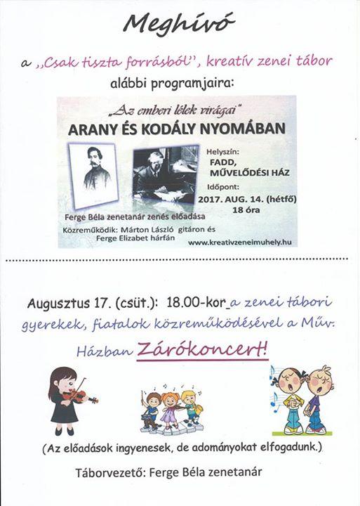 Fadd Nagyközség shared Béri Balogh Ádám Művelődési Ház és Könyvtár's post.